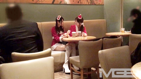 【ナンパTV】クリスマスナンパ 01 みおり 21歳 占い師見習い さくら 24歳 スムージーショップ店員 4