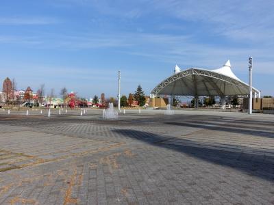 道の駅 天童温泉 噴水のある広場