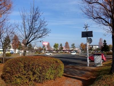 道の駅 天童温泉 裏側の駐車場