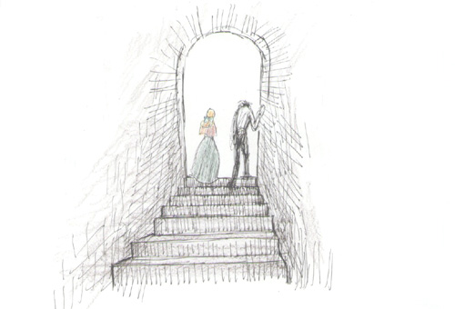 階段をのぼる、アンドレとロザリー