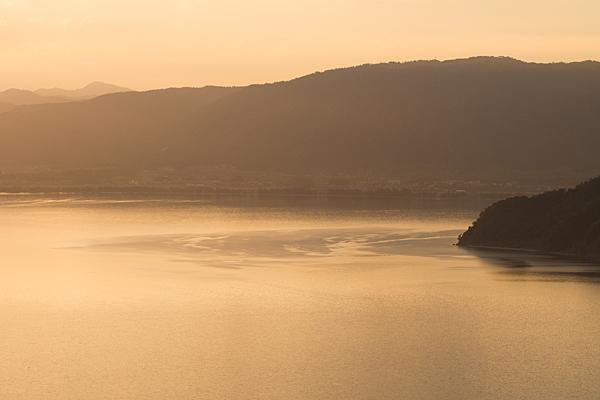 奥琵琶湖の夕景