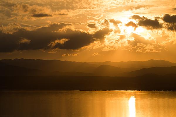 奥琵琶湖の夕焼け