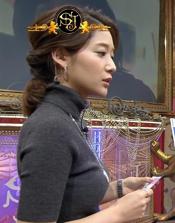 吉田明世 形のいい横乳キャプ画像(エロ・アイコラ画像)