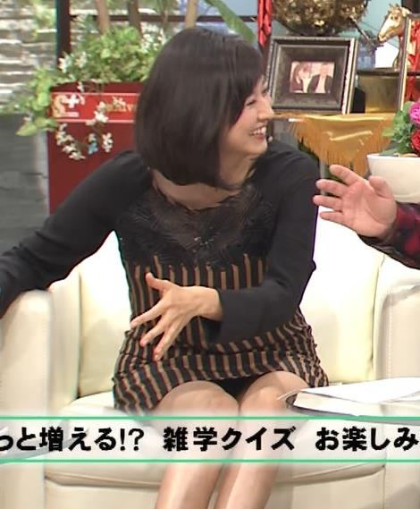 菊川怜 ミニスカのデルタゾーン、黒いパンツ確定!キャプ画像(エロ・アイコラ画像)