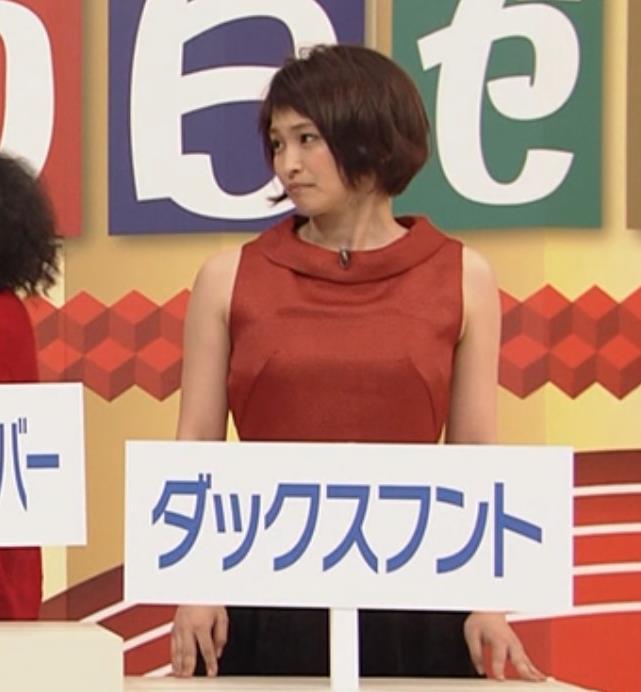 岡本玲 ノースリーブ&おっぱいがエロいキャプ画像(エロ・アイコラ画像)