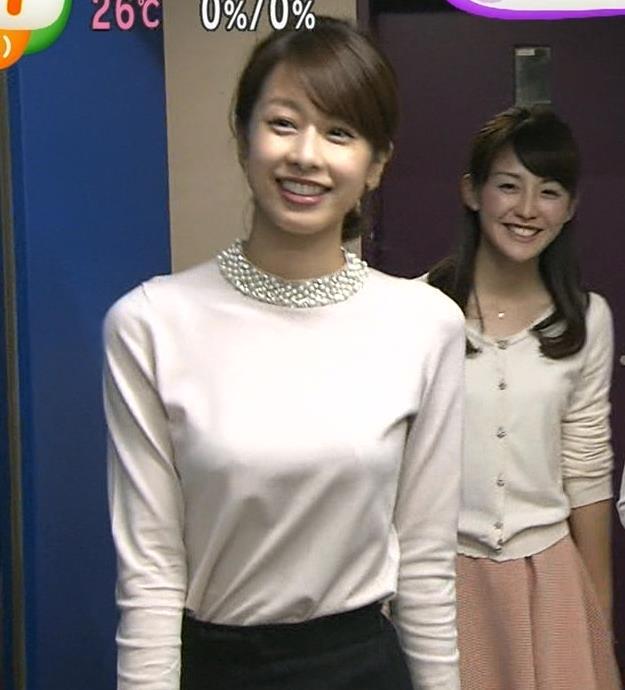加藤綾子 胸のふくらみがわかる服キャプ画像(エロ・アイコラ画像)