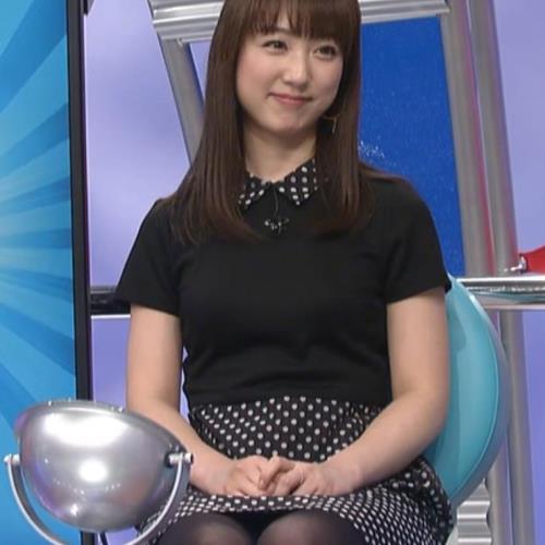 川田裕美 黒ストッキング ミニスカのデルタゾーンキャプ画像(エロ・アイコラ画像)