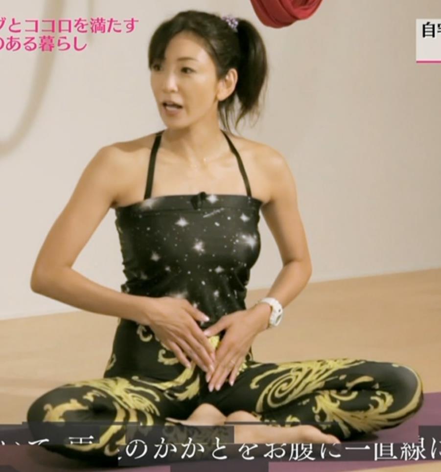 中島史恵 熟女のヨガウェアキャプ画像(エロ・アイコラ画像)