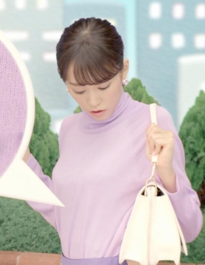 桐谷美玲 柔軟剤CMの胸のふくらみキャプ画像(エロ・アイコラ画像)