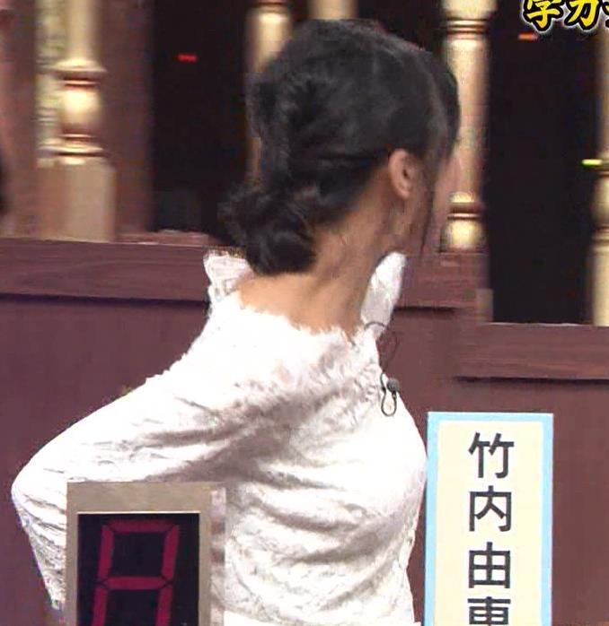 竹内由恵 横乳強調&お尻