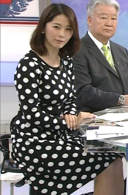 杉浦友紀 よく見るとエロいタイトなワンピースキャプ画像(エロ・アイコラ画像)