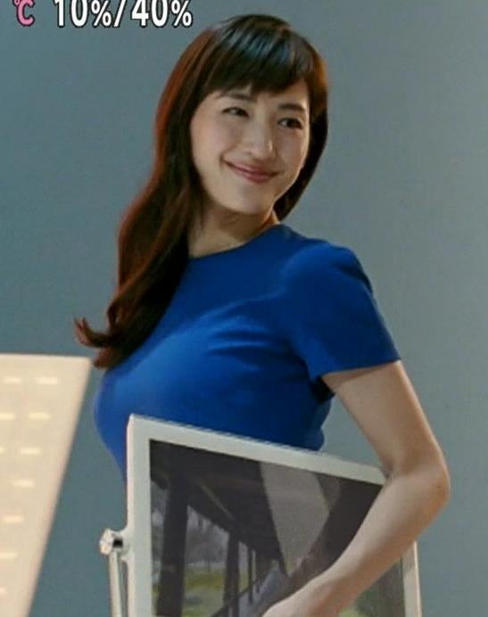 綾瀬はるか 巨乳で体にぴったりなワンピースは気前がいいキャプ画像(エロ・アイコラ画像)