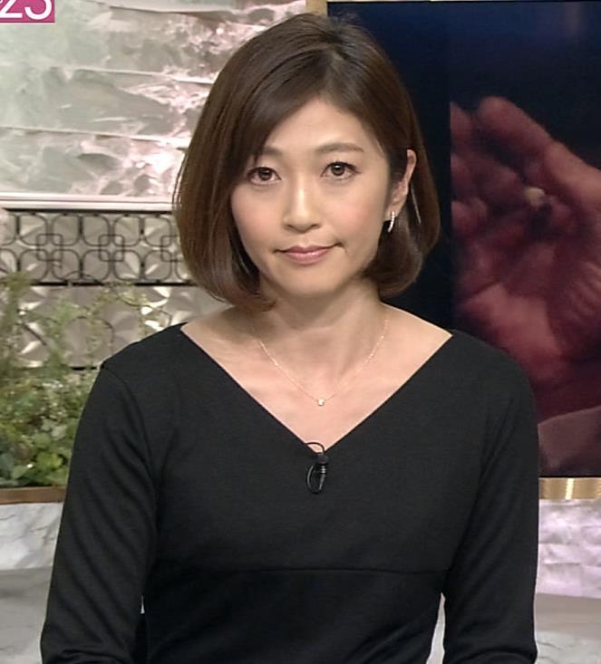 久保田智子 黒のワンピースキャプ画像(エロ・アイコラ画像)