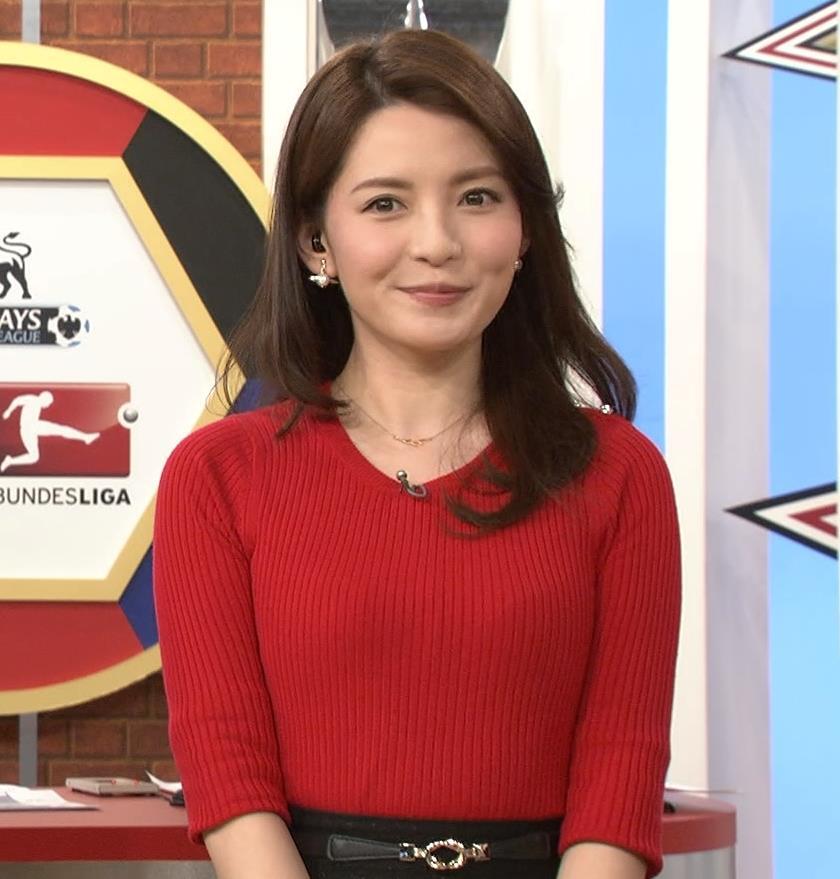 深津瑠美 赤いニットの胸のふくらみキャプ画像(エロ・アイコラ画像)