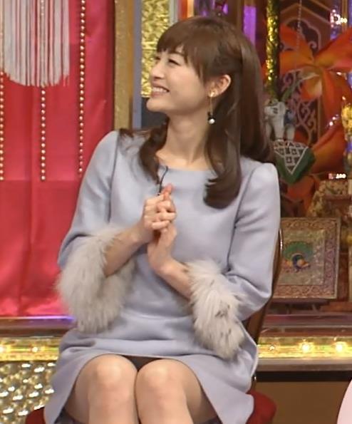 新井恵理那 ミニスカのデルタゾーンキャプ画像(エロ・アイコラ画像)