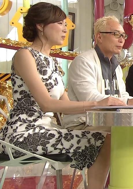 笹川友里 ノースリーブワンピースキャプ画像(エロ・アイコラ画像)