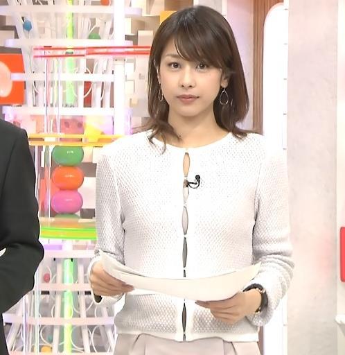 加藤綾子 この服の隙間がエロ過ぎ