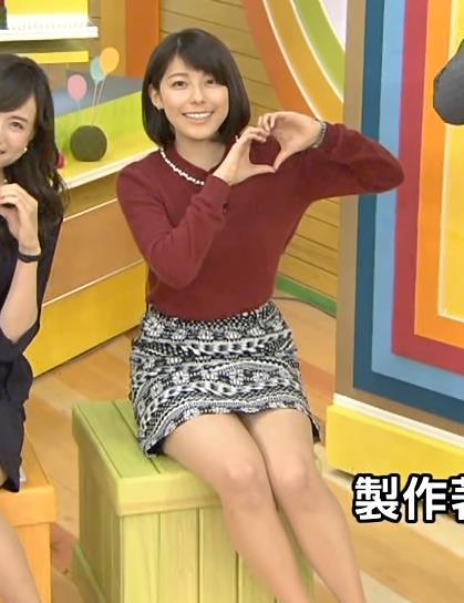 上村彩子 太もも&デルタゾーンキャプ画像(エロ・アイコラ画像)