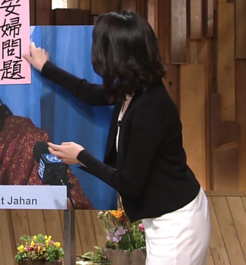 小川彩佳 タイトなワンピースのお尻&▼ゾーン