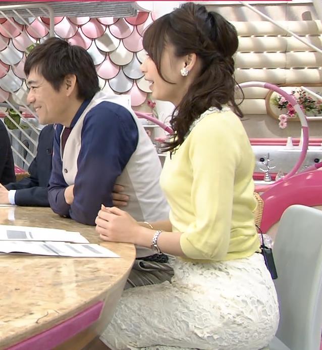 宇垣美里 巨乳横乳キャプ画像(エロ・アイコラ画像)