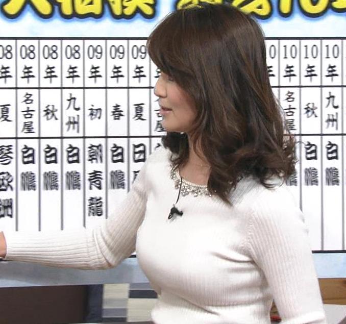 秋元玲奈 ニット×巨乳=エロ過ぎキャプ画像(エロ・アイコラ画像)