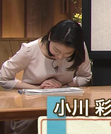 小川彩佳 横乳画像9