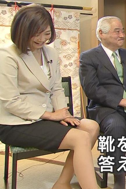 久保田智子 ミニスカ太もも