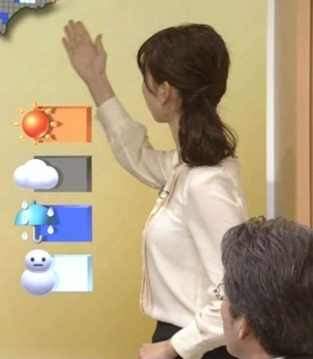 三宅惇子 NHKの「巨乳」気象予報士キャプ画像(エロ・アイコラ画像)