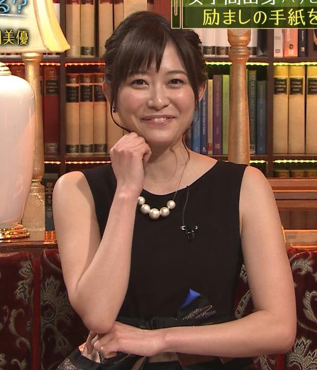 久冨慶子 ノースリーブのドレスのきれいな二の腕キャプ画像(エロ・アイコラ画像)