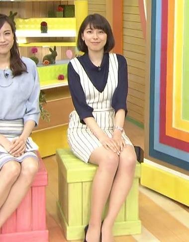 上村彩子 ムチムチ太ももキャプ画像(エロ・アイコラ画像)