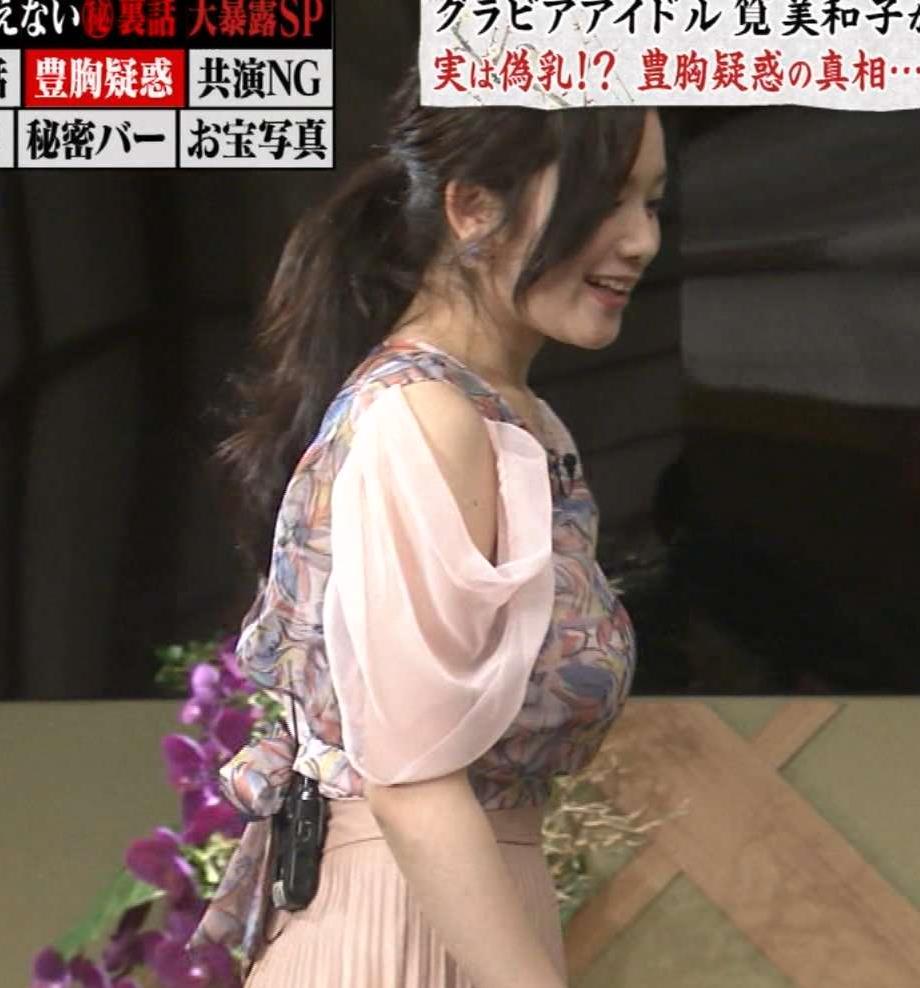 筧美和子 Eカップと公表した横乳すごすぎ。キャプ画像(エロ・アイコラ画像)