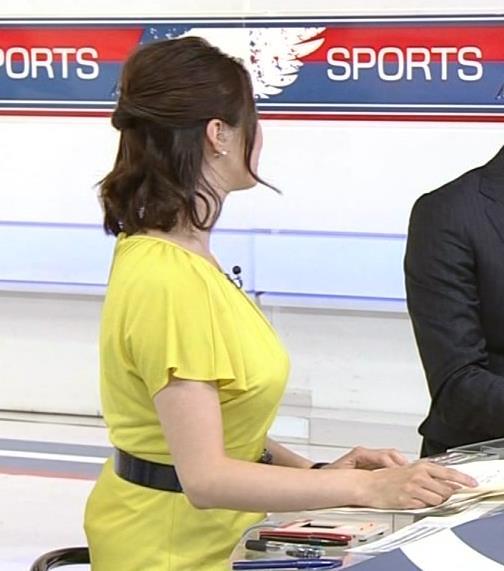 杉浦友紀 おっぱいが突き出ていた黄色いワンピースキャプ画像(エロ・アイコラ画像)