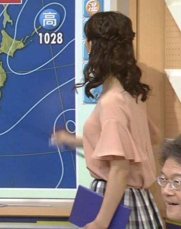 三宅惇子 気象予報士の横乳キャプ画像(エロ・アイコラ画像)