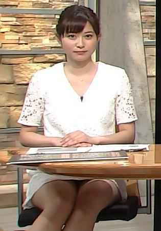 久冨慶子 太ももサービスしまくりのニュース番組キャプ画像(エロ・アイコラ画像)