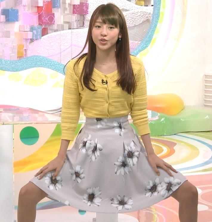 岡副麻希 スカートで股を開くキャプ画像(エロ・アイコラ画像)