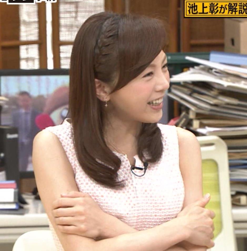 森本智子 乳寄せキャプ画像(エロ・アイコラ画像)