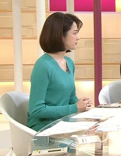 鈴木奈穂子 ニットおっぱいキャプ画像(エロ・アイコラ画像)