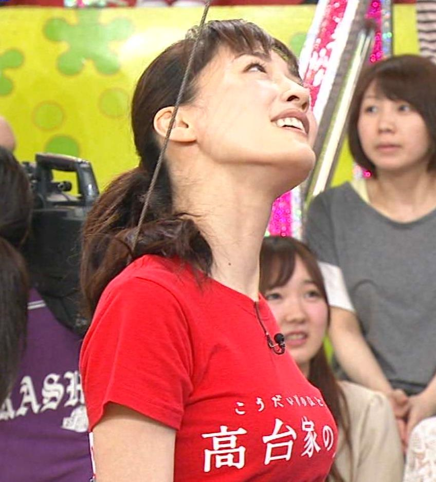 綾瀬はるか 【VS嵐】Tシャツで巨乳が強調されていたキャプ画像(エロ・アイコラ画像)
