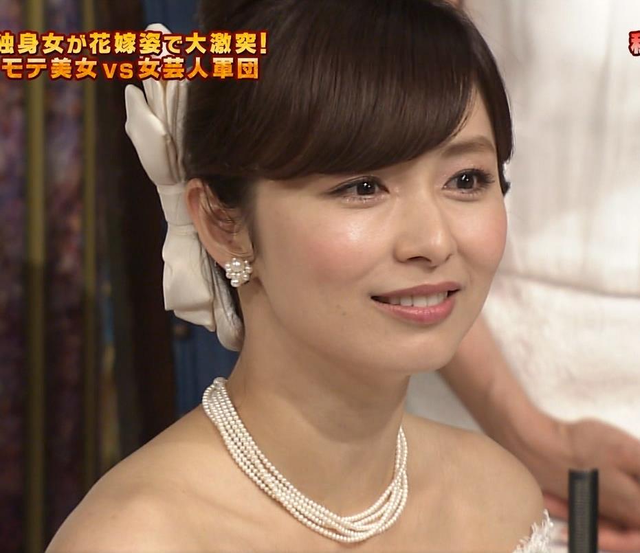 伊藤綾子 ウェディングドレス姿が美人すぎるキャプ画像(エロ・アイコラ画像)