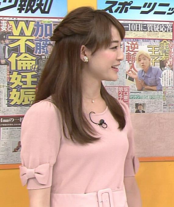 新井恵理那 胸のふくらみ(ピンクのワンピース)キャプ画像(エロ・アイコラ画像)