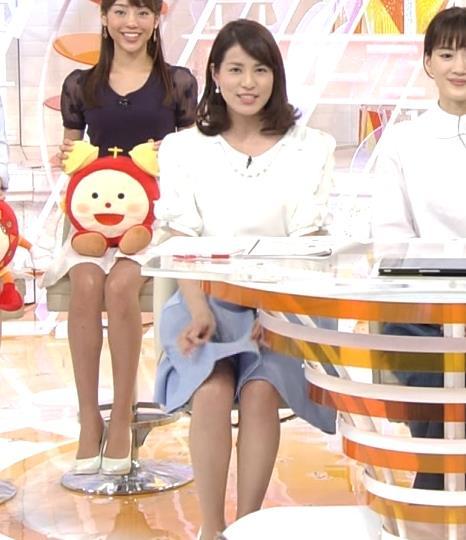 永島優美 スカートを自らあげて太ももチラリキャプ画像(エロ・アイコラ画像)
