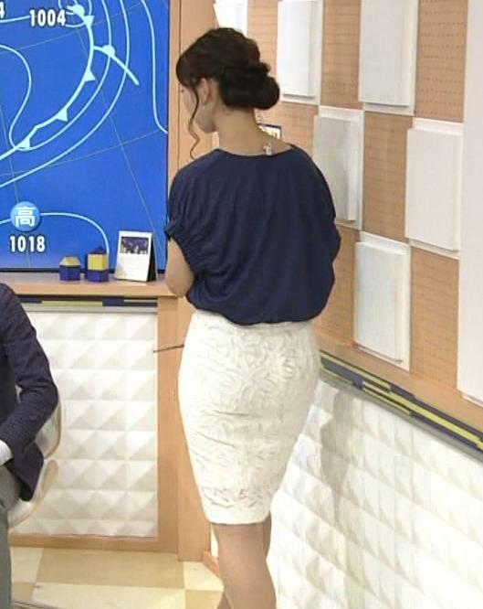 三宅惇子 お天気お姉さんのタイトスカートのお尻キャプ画像(エロ・アイコラ画像)