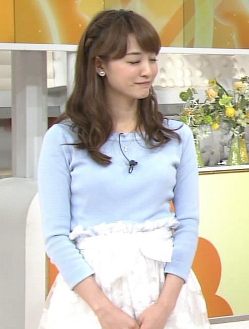 新井恵理那 胸のふくらみ(グッド!モーニング)キャプ画像(エロ・アイコラ画像)