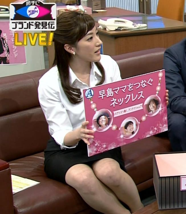 上原光紀 NHKローカルアナの美脚デルタゾーンキャプ画像(エロ・アイコラ画像)