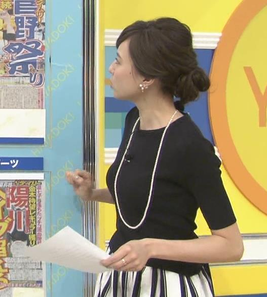 笹川友里 横乳のラインがエロいキャプ画像(エロ・アイコラ画像)