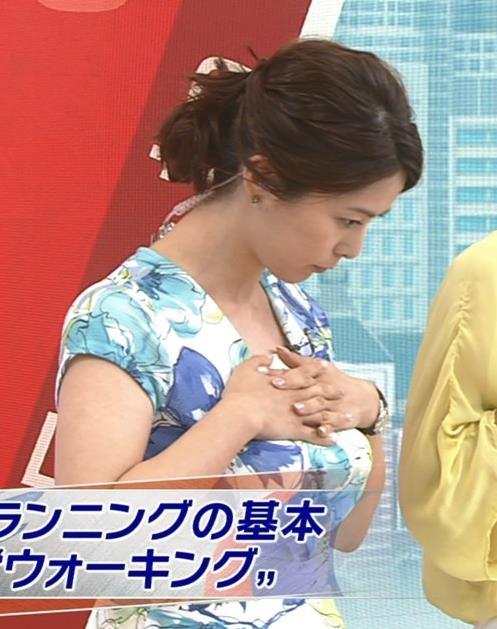 杉浦友紀 「父の日」ではなく「乳の日」だったサンデースポーツキャプ画像(エロ・アイコラ画像)