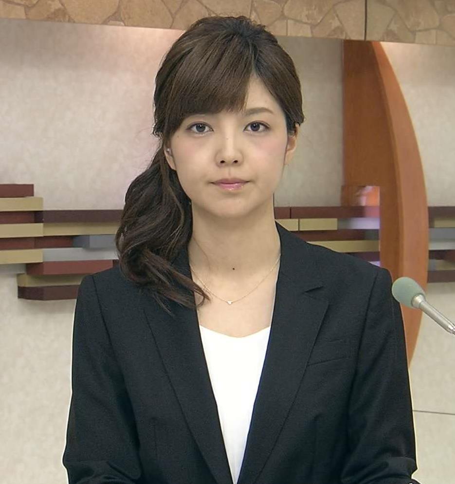 四位知加子 ローカル美人アナキャプ画像(エロ・アイコラ画像)