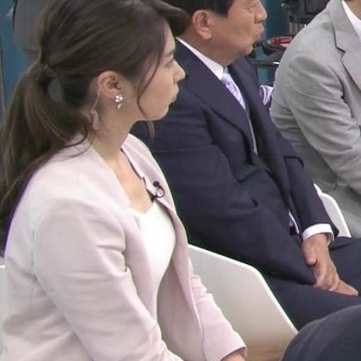 皆川玲奈 スーツの下のおっぱいがエロいキャプ画像(エロ・アイコラ画像)