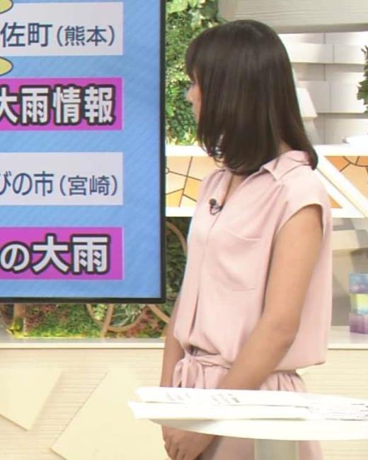 桝田沙也香 テレ朝アナのノースリーブワンピキャプ画像(エロ・アイコラ画像)