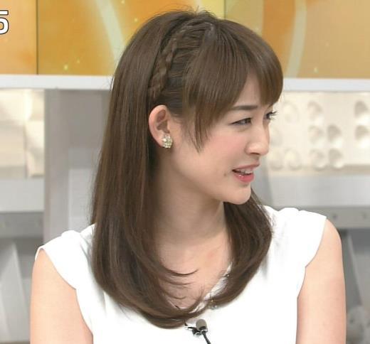 新井恵理那 ノースリーブ白い肌キャプ画像(エロ・アイコラ画像)